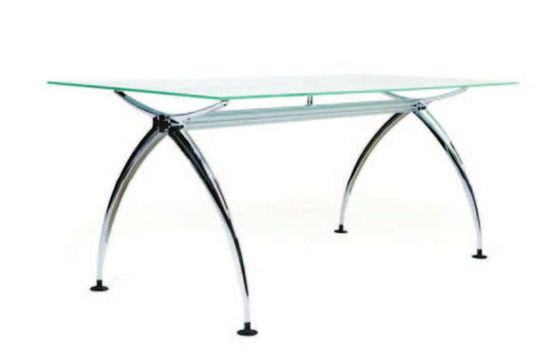 mesa de cristal para despacho fabricada en aluminio y cristal laminar de con reguladores de altura original diseo bonito ideal para arquitectos