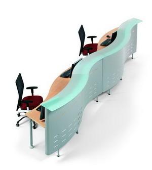 Mesas de despacho de cristal for Muebles de oficina issa